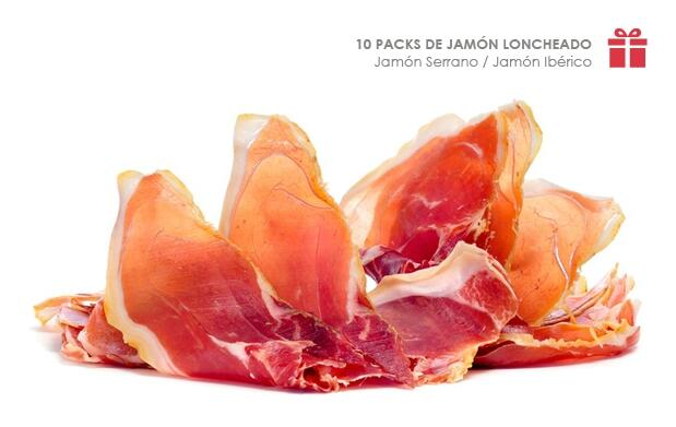 10 Packs de Jamón Loncheado