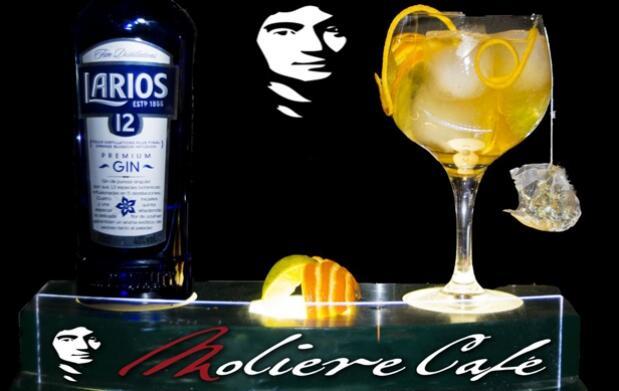 Ruta Gin Tonic Larios 12 en Moliere Café: 2 Gin Tonics por 6 €