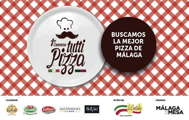 Pizza y bebida en Pizzería Italia
