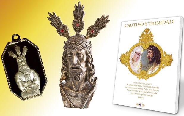 Medalla, busto y libros del Cautivo