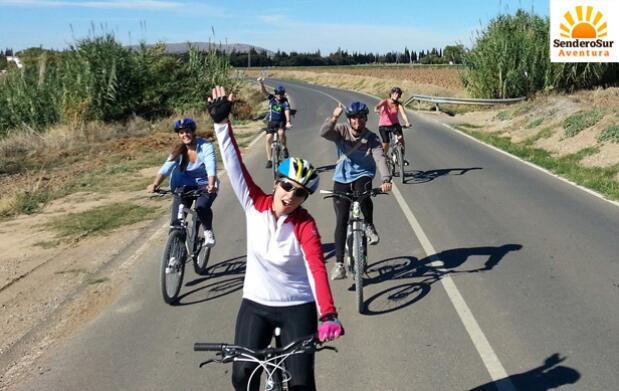 Turismo en bicicleta por Fuente de Piedra