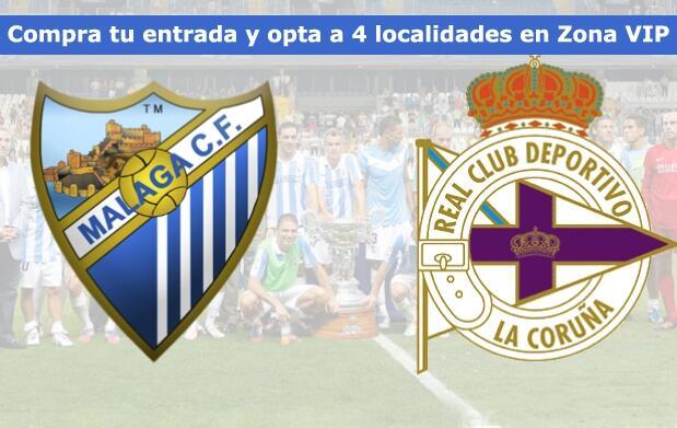 Entrada en Gol o Fondo para el Málaga CF-Deportivo. Domingo a las 12h
