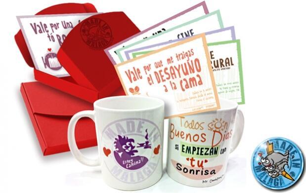 San Valentín original: Taza + 'Vales Deseo'