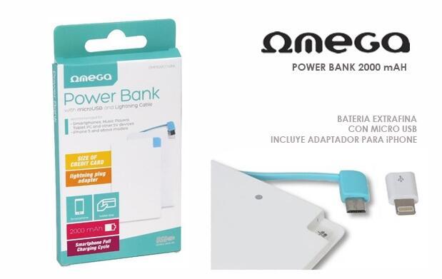 Power Bank 2000mAh - Super Slim