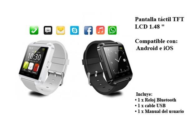 SmartWatch con Bluetooth+Pantalla Táctil