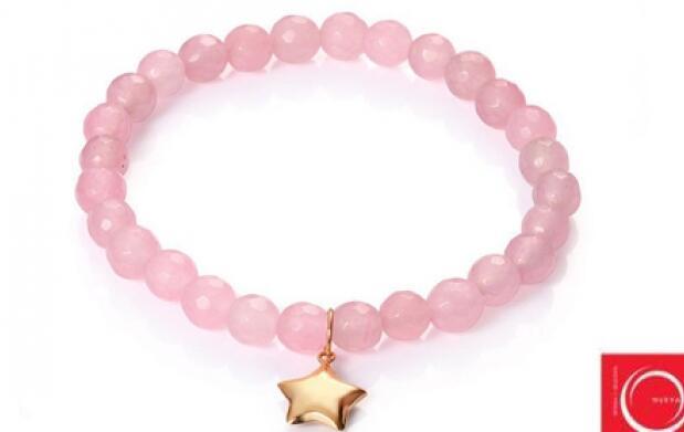 Pulsera Viceroy oro elástica adaptable de cuarzo rosa o ágata para el Día de la Madre