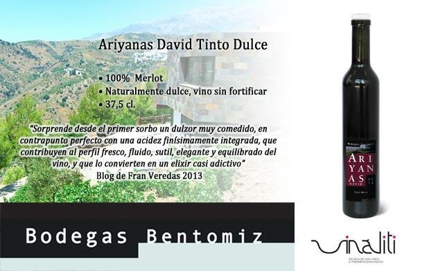 2 botellas de Ariyanas David Tinto Dulce