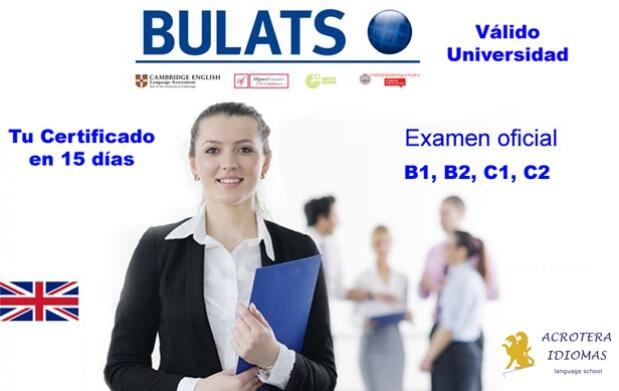 Examen de inglés Test BULATS de University of Cambridge para A1, A2, B1, B2, C1, C2