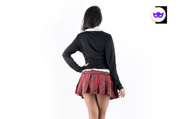 Disfraz College Girl Negro
