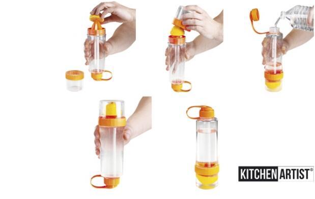 Botella infusora con exprimidor
