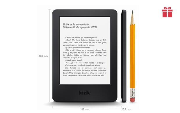 Kindle 6´´, Pantalla táctil + Wifi