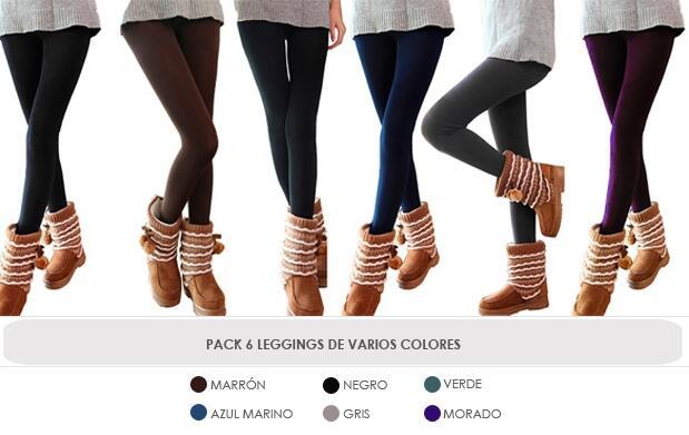 Pack 6 Leggings de Invierno por 19.99€