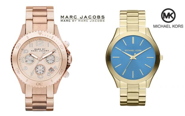 Relojes Marc Jacobs y Michael Kors