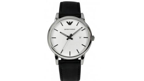 Regalos Día del Padre: reloj Emporio Armani con correa de piel