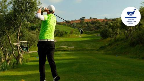 El mejor plan de Golf en Antequera: 2 GreenFee + Buggy + Menú para 2