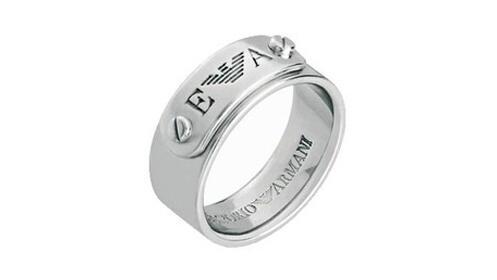 Regalos Día del Padre: anillo Emporio Armani plata de ley