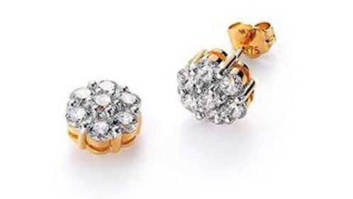 Regalos para ella: pendientes Viceroy de oro de 9k  y cristal Swarovski