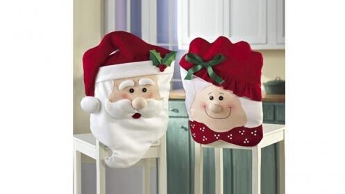 Fundas para silla de Navidad: Mrs Claus and Mr Claus