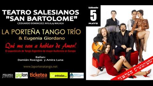 Entrada para el espectáculo de La Porteña Tango Trío & Eugenia Giordano