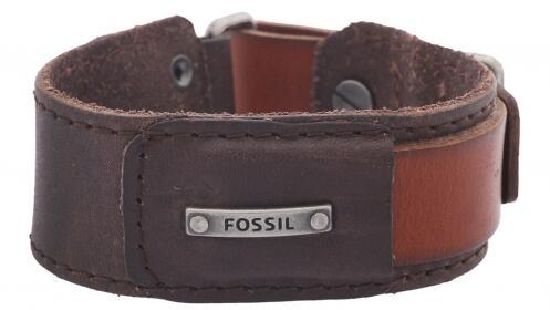 Regalos para él: pulsera Fossil piel marrón