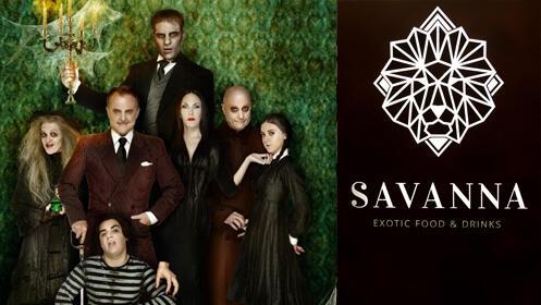 Invitaciones para La Familia Addams y menú para 2 en Savanna