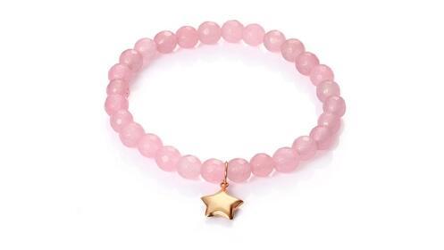 Regalos para ella: pulsera Viceroy de oro y cuarzo rosa para mujer