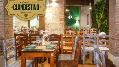 Menú para dos en L'atelier Clandestino Gourmet + 2 invitaciones a Concerto Málaga
