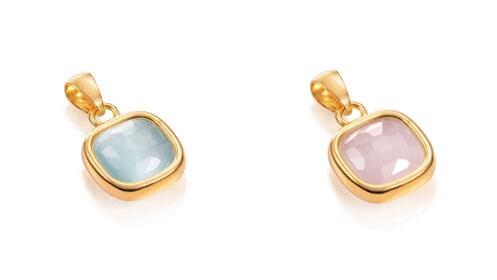 Regalos para ella: colgante Viceroy de oro rosa o azul para mujer