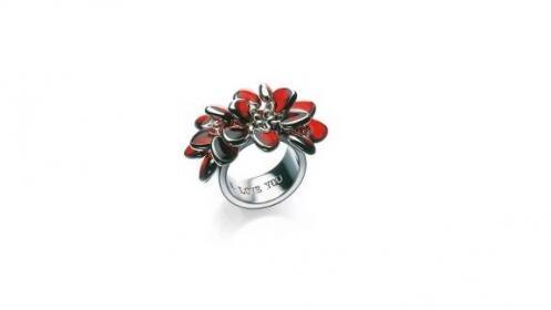 Regalos para ella: anillo Swatch Bijoux rojo