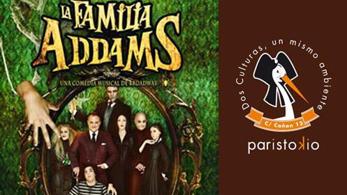 Invitaciones para La Familia Addams y menú para 2 en Paristokio