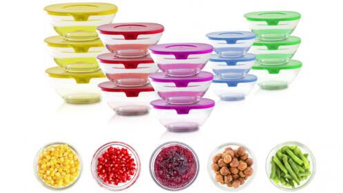 Batería 5 pzas San Ignacio y set de 15 bowls de colores