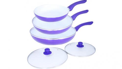 Set de 3 sartenes de cerámica