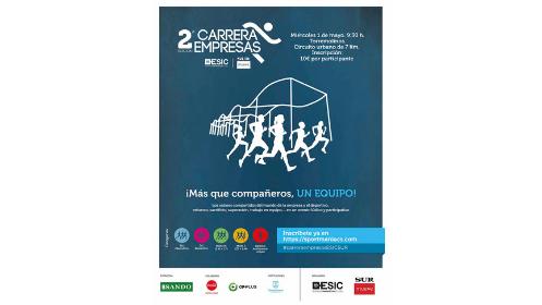 Inscripción II Carrera de Empresas ESIC-SUR por equipos
